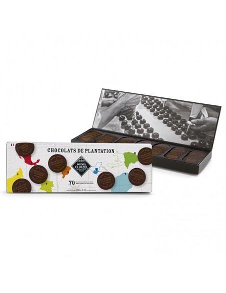 Nuancier Palets de chocolat de Plantation n°70 - Michel Cluizel